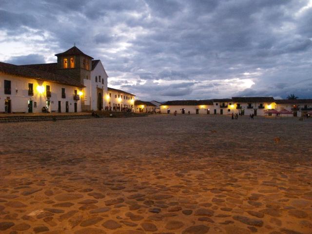 Mooi pleintje (of zeg maar plein) in het centrum van Villa de Leyva