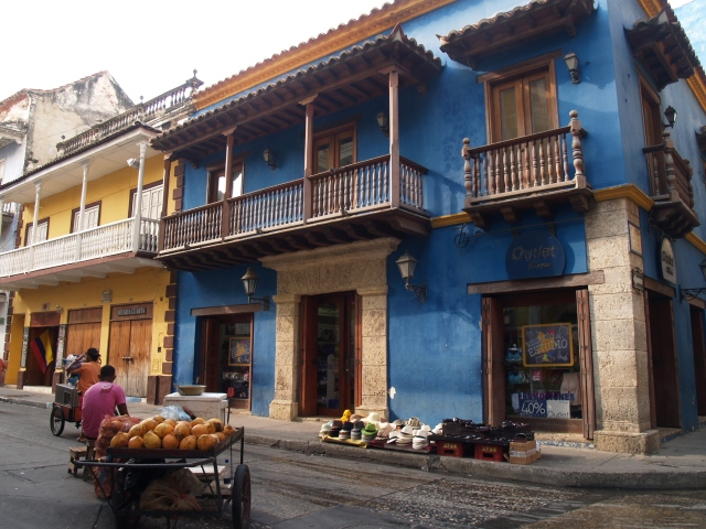 Gezellig steegje in Cartagena